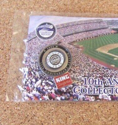 2002 Colorado Rockies Pin  1 Coca Cola King Soopers 10Th Anniversary Year