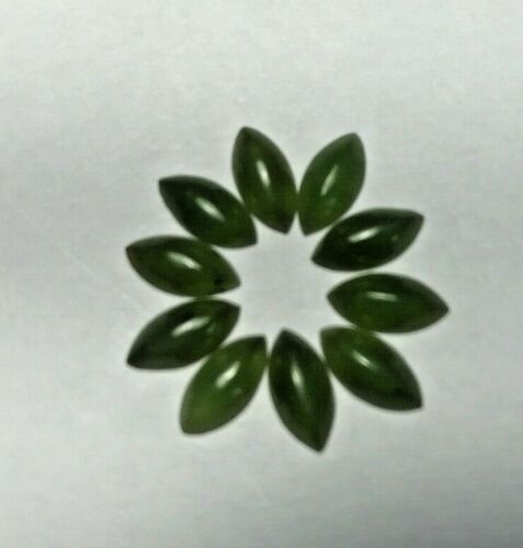 8x4mm Natural Taiwan Jade Marquise  Cab Lot of (10) Pieces BEST EBAY PRICE