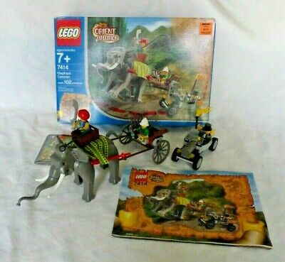7414 Lego complete Orient Expedition Elephant Caravan vintage set minifigures