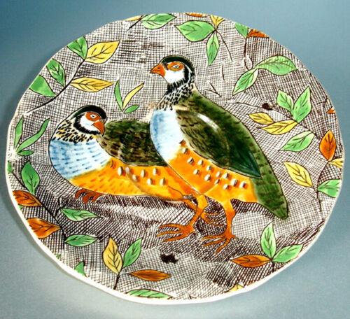 "Gien Rambouillet Demitasse Saucer Hand Painted Partridge Birds 5-1/4"" New"