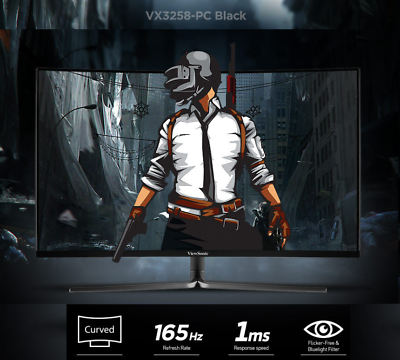 ViewSonic VX3258-PC 1800R Curved 165Hz Gaming Monitor (Black) AMD FreeSync