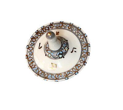 Porcelain Dreidel Decorated in Gold & Blue Shades ISRAEL - Mali Hikri #39
