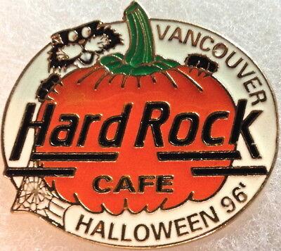 Hard Rock Cafe VANCOUVER 1996 HALLOWEEN PIN Black Cat & Orange Pumpkin HR - Halloween Vancouver