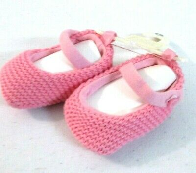 BABY GAP ballerina Pink knit Baby warm booties Shoes $16 (Baby Ballerina)