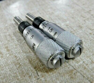 Mitutoyo 148-202 Miniature Micrometer Heads 0.0 To 0.25 Range Lot Of 2