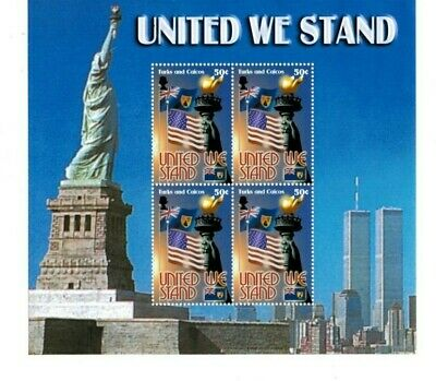 Turks and Caicos - 2002 - United We Stand - Sheet of Four - MNH