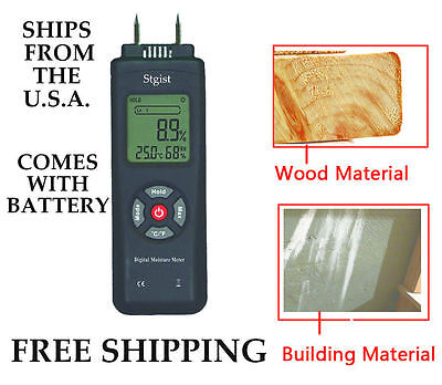 Digital Wood Moisture Meter Building Material Ships Free From U.s.a.