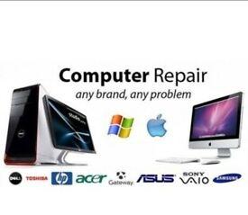 Computer PC Laptop & Apple Mac Repair Fix Service - Local, honest