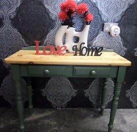 Beautiful Shabby Chic Pine Dressing Side Console Table with Drawers Delivery