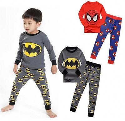 Brand Kids Toddler Baby Boys Batman Spider-man Sleepwear Pj's Pajamas Sets - Batman Pajamas Kids