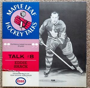 Vintage Toronto Maple Leafs Hockey Talks Recording Eddie Shack
