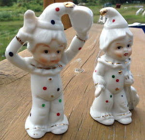 VINTAGE 2 MAGNIFIQUES CLOWNS MADE IN TAIWAN