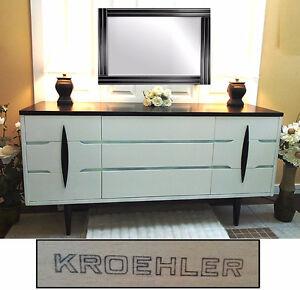 Refinished KROEHLER 9-Drawer Dovetail Dresser, L60``