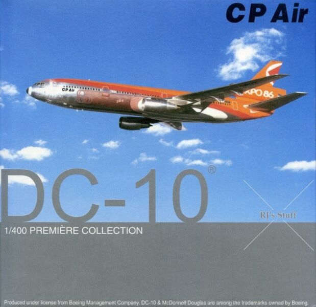 """RARE Dragon Wings #55464 C P AIR """"EXPO 86"""" McDonnell Douglas DC-10 1:400 Scale Model Aircraft"""