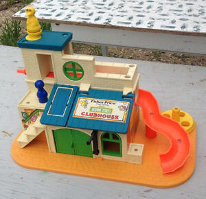 VINTAGE FISHER PRICE SESAME STREET 937, 938 PLAY FAMILY PLAYSETS