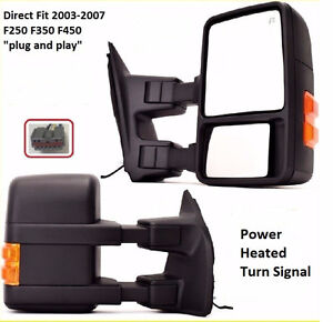 Ford F250 F350 Upgrade Towing Mirrors-2003-07