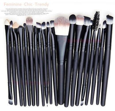 (Makeup Brushes Set 20pcs Professional Powder Eyeshadow Eyeliner Lip Brush Tool)