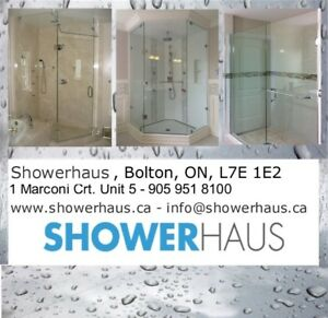 Glass shower doors, sliding shower doors, shower bases and more.