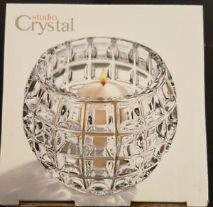Brand New Bowring crystal candle holder