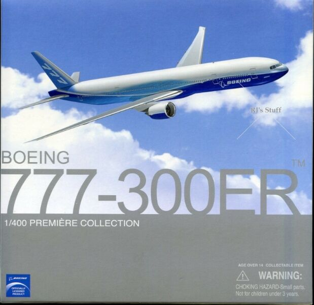 RARE Boeing 777-300ER 1:400 Die-Cast Scale Model in the latest Boeing colours #55851 fm Dragon Wings