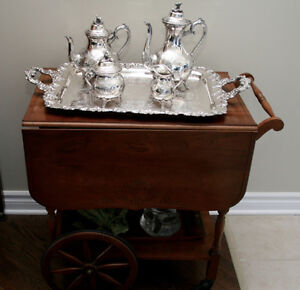 Two Silver Tea Services