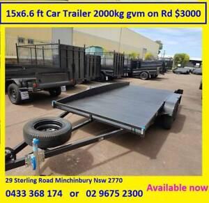 15x6.6 feet Car Trailer, GVM 2000 kgs   12 months rego on road Minchinbury Blacktown Area Preview