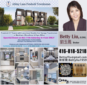 ABBEY LANE FREEHOLD TOWNS -CALL FOR EXCLUSIVE ACCESS