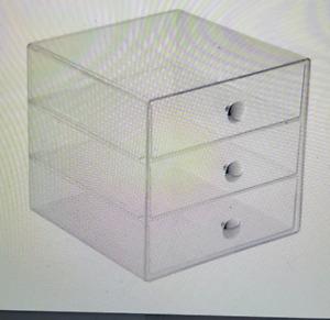 InterDesign 3 Drawer Storage Organizer, Clear, 2 Pack