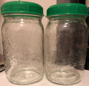 PAIR SPROUTING JARS WITH PERFORATED LIDS