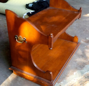 TV Stand, Solid Wood, Sturdy and in good condition.