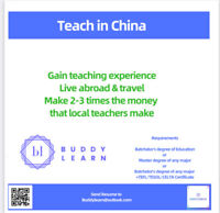 Teach English/subject course in China