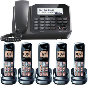 Panasonic KX-TG4771c corded phone with answering System and 5 HS