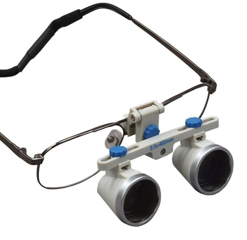 3.5X Flip-up Dental Binocular Loupes w Titanium Frame