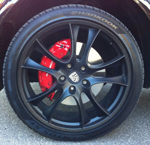 """22"""" Black Mags and Tires for Porsche Cayenne or similar SUV"""
