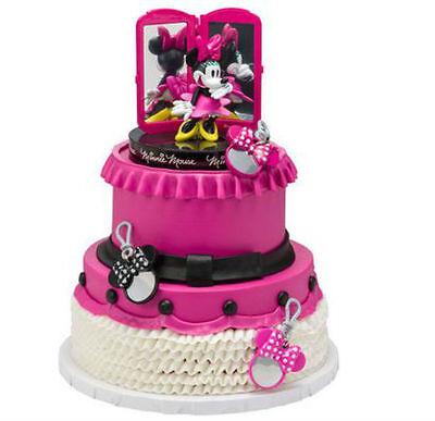 Minnie Mouse Bags Bows Shoes cake decoration Signature Decoset cake topper set](Minnie Cake Decorations)