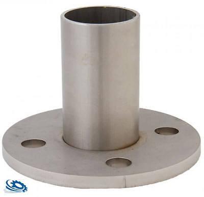 Bodenanker für Rohr 42,4/2,0 mm Edelstahl roh V2A