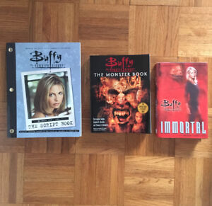 Buffy the vampire slayer books and trading cards