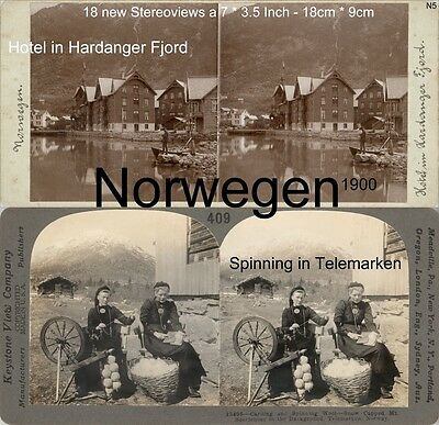 18 Stereoviews Norway, Norwegen, Christiania,  Lot 5