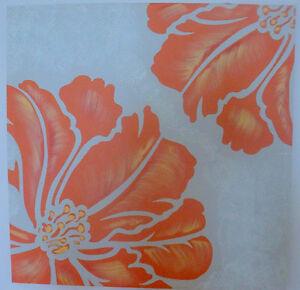 Beautiful Orange Beige painting