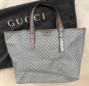 BRAND NEW GUCCI Diamante Supreme Canvas & Leather Large Tote Bag