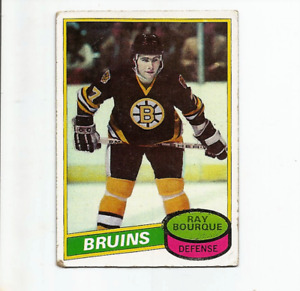 1980-81 TOPPS #140 RAY BOURQUE ROOKIE - BOSTON BRUINS