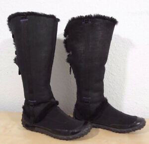 Nike G Series  Fits 7.5  Black Suede Knee High Boots For Sale