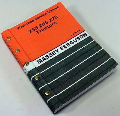 Massey Ferguson 275 Tractor Service Repair Shop Manual Technical Workshop Mf 275