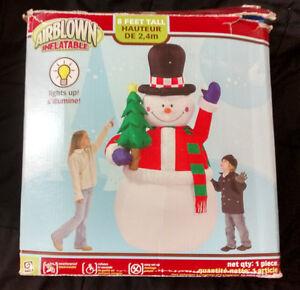 Airblown Inflatable Huge 8 Foot Tall Snowman Christmas