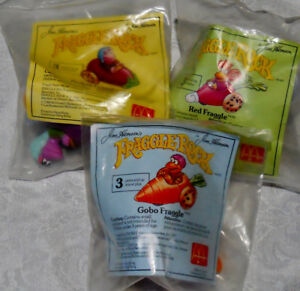 9 Vintage McDonald's Jim Henson Fraggle Rock 3 New In Package