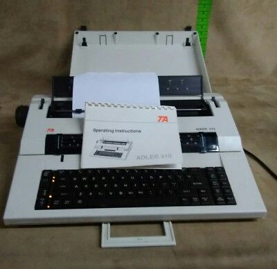 Vintage 90s Ta Adler 310 Correcting Selectric Ii Electric Typewriter Tested