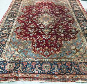 Semi-antique Persian Rug,Wool,Handmade,11 x 8.3ft,wool