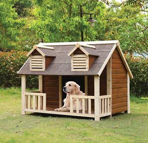 """Rufus Cream Oak Dog Pet House - 45x50"""""""
