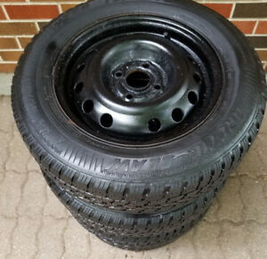 185 70 14 - ARCTIC CLAW - SNOW TIRES on 4 BOLT RIMS - 4x100
