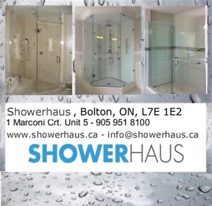 Glass shower doors, sliding shower doors, shower bases and more.